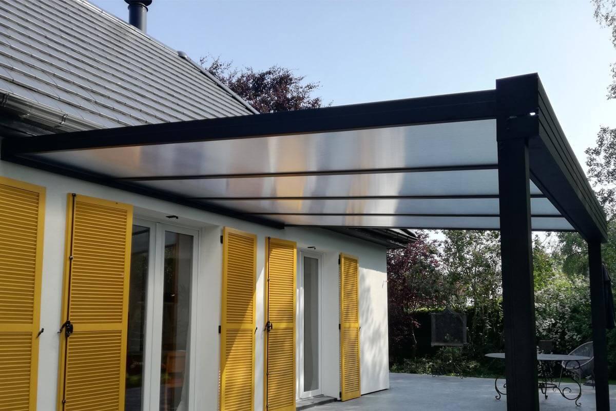 Sun Modul Intégral Cheneau Façade système pergola autoportant