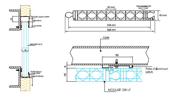 Modulit 338LP Plaques en polycarbonate alvéolaire emboîtables